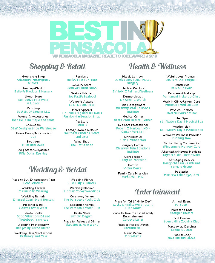 Best in Pensacola Winners! | VIP Pensacola